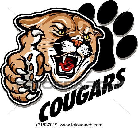 Cougars mascot Clip Art.