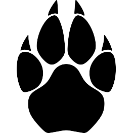 Cougar Paw Print Silhouette.