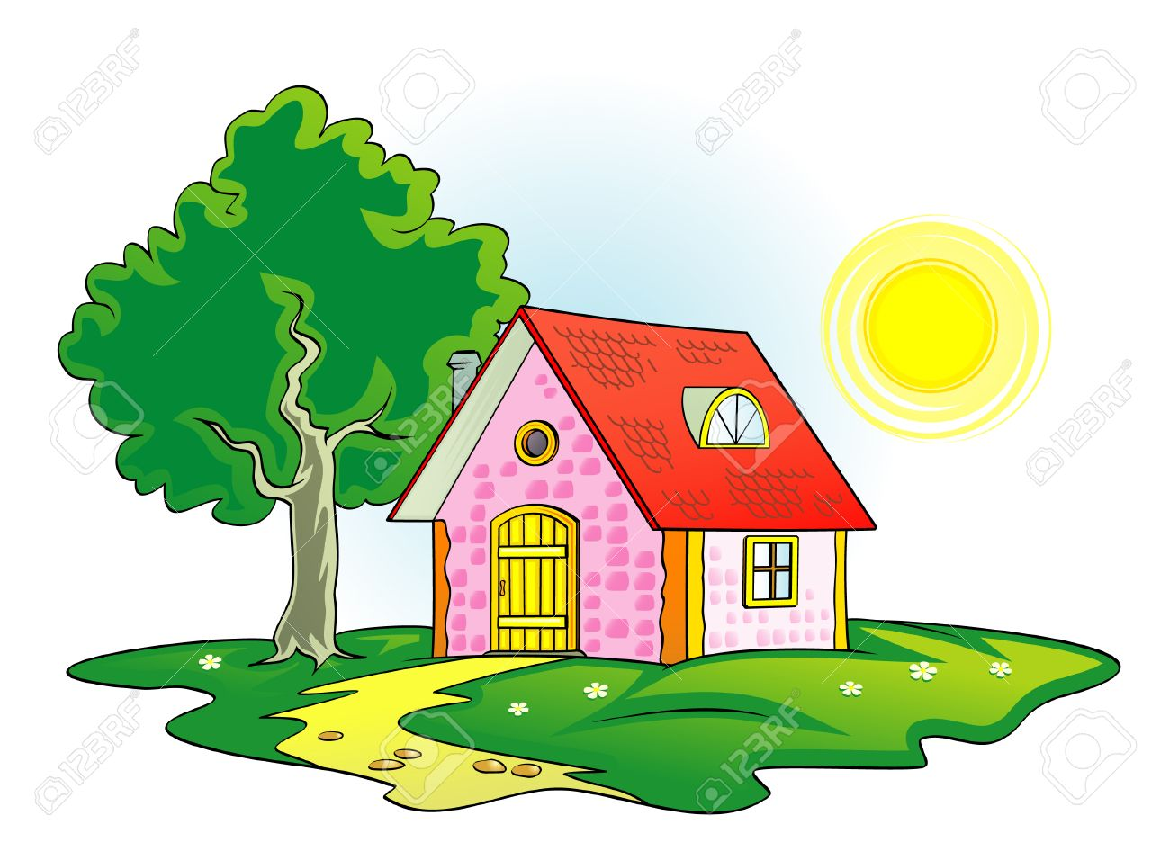 Country house vector illustration.