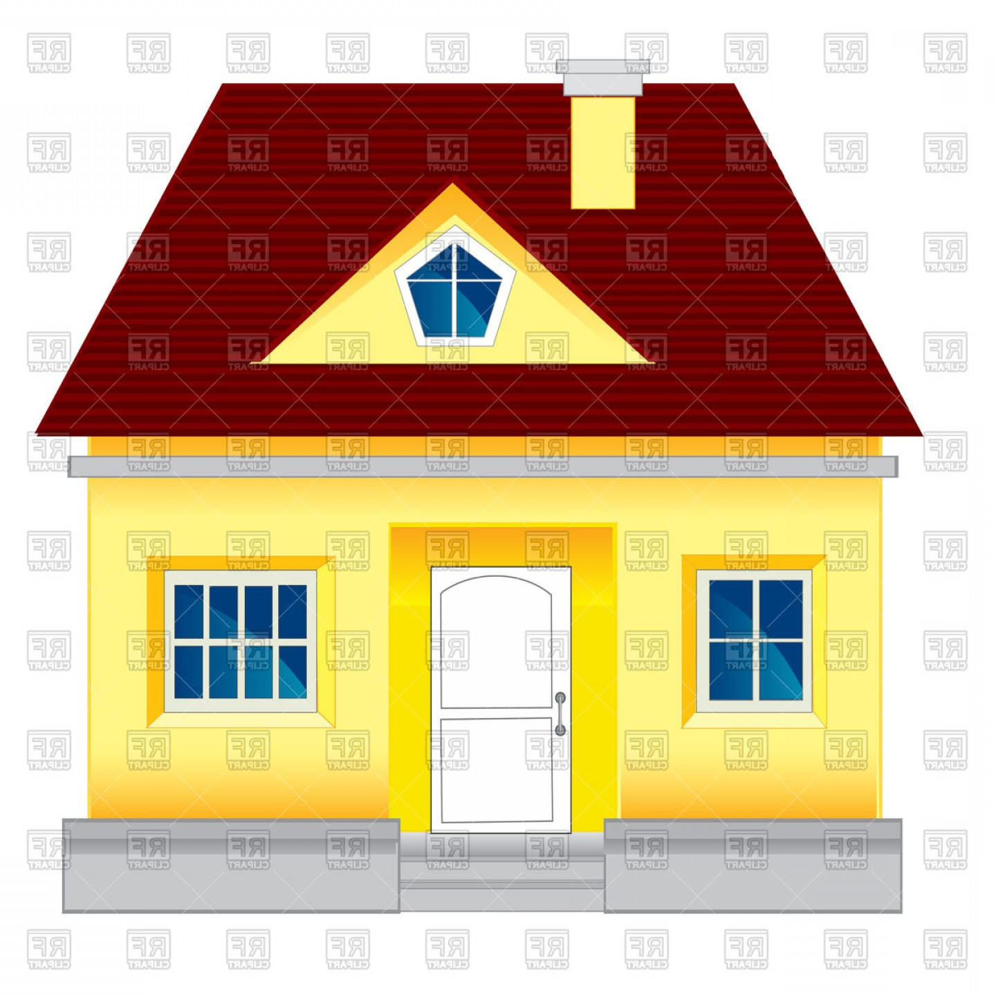 Small Lodge Country House Vector Clipart.
