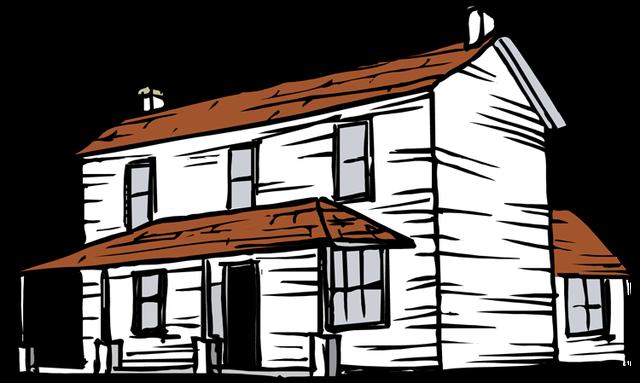 Great clip art of a country farm house.: Farm House.