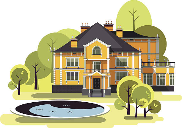 Best Country House Illustrations, Royalty.