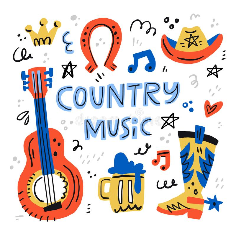 Country Music Stock Illustrations.
