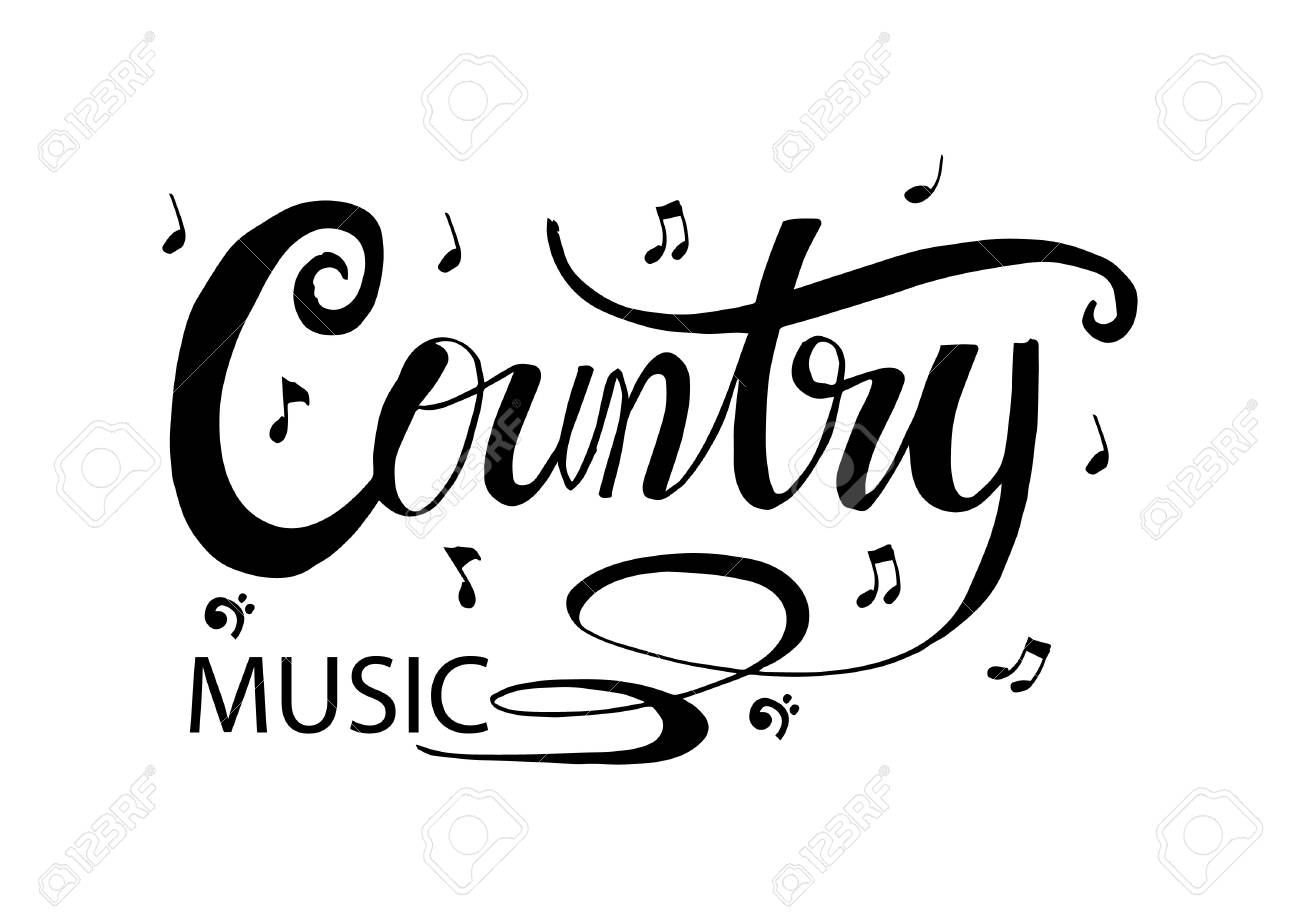 Country music hand lettering calligraphy..