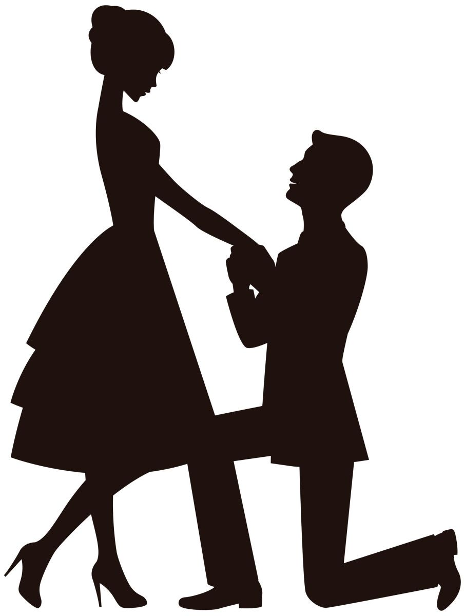 44 Awesome engagement couple clipart.