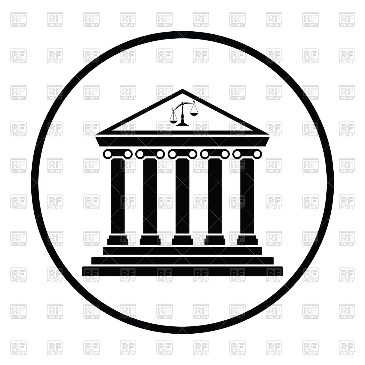 Courthouse icon Stock Vector Image.