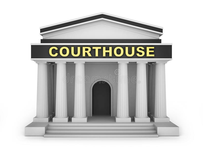 Courthouse Building Stock Illustrations.