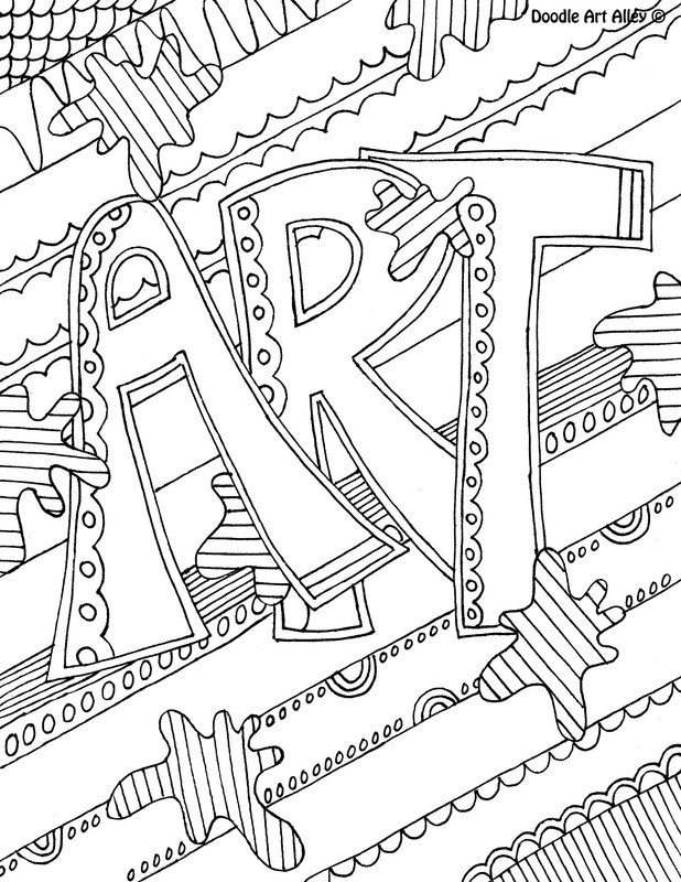 Subject Cover Pages Coloring Pages.