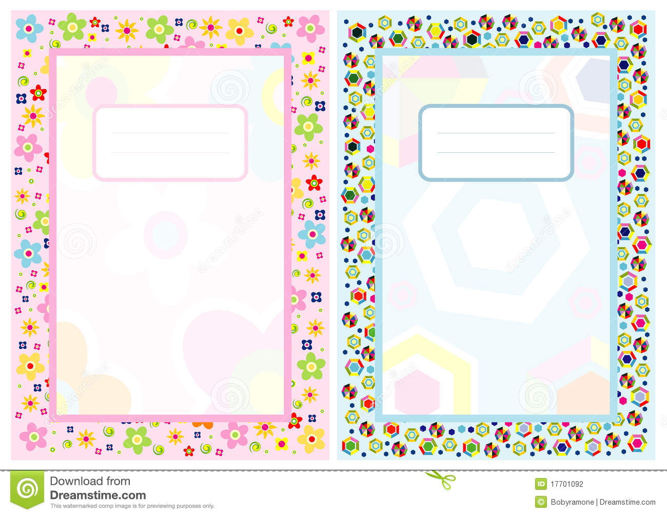 Notebook cover page stock vector. Illustration of flower.