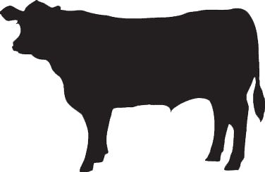 Cow silhouette svg clipart.