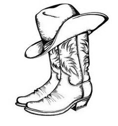 Cowboy Boot Line Drawing at PaintingValley.com.