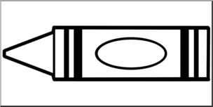 Clip Art: Crayon Outline B&W I abcteach.com.