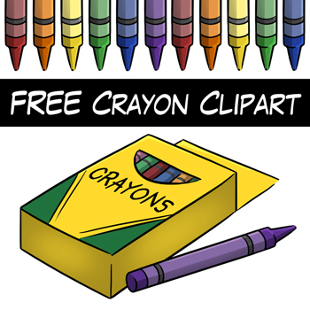 FREE Crayon Clip Art by Digital Classroom Clipart.