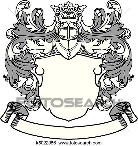 Crest and Banner Clip Art.