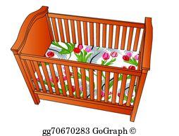 Crib Clip Art.