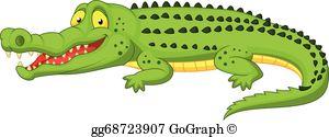 Crocodile Clip Art.
