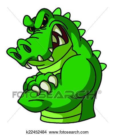 Crocodile Mascot Clipart.