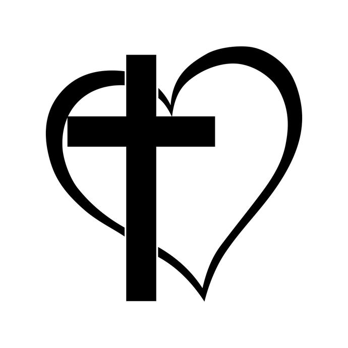 Heart Cross Clipart.