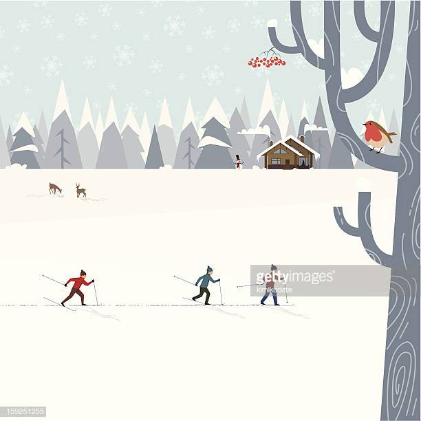 60 Top Cross Country Skiing Stock Illustrations, Clip art, Cartoons.