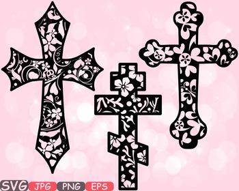 Christian Cross Jesus clipart crosses religious flower Hope Faith Rejoice.