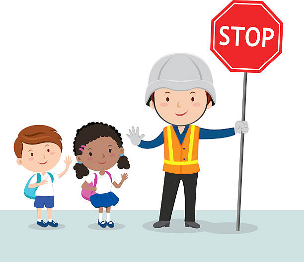 Best Crossing Guard Illustrations, Royalty.