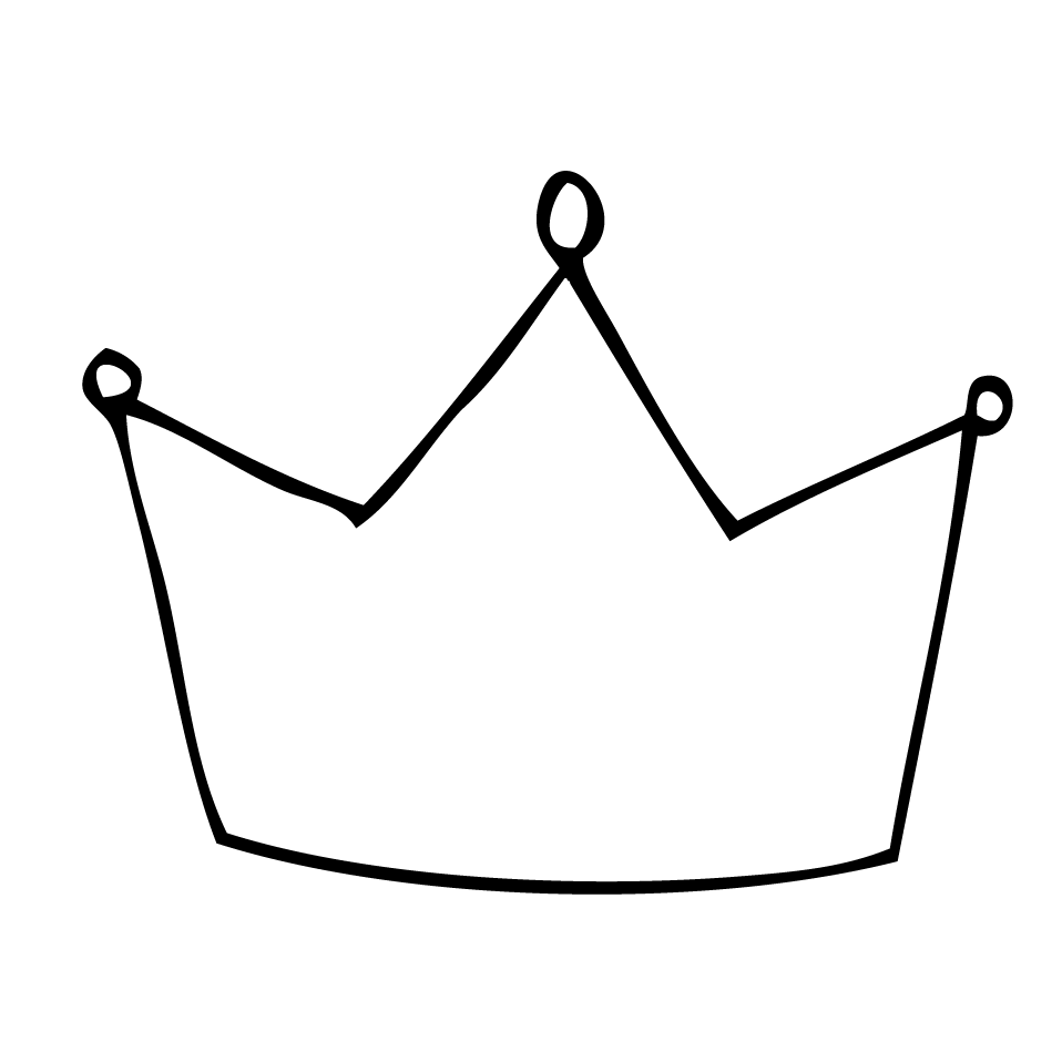 Crown outline clipart.