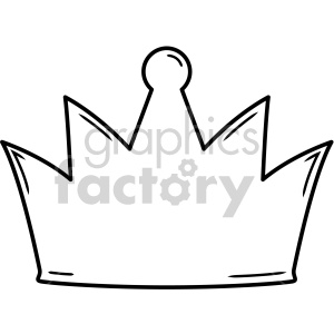 crown outline with highlighs clipart. Royalty.