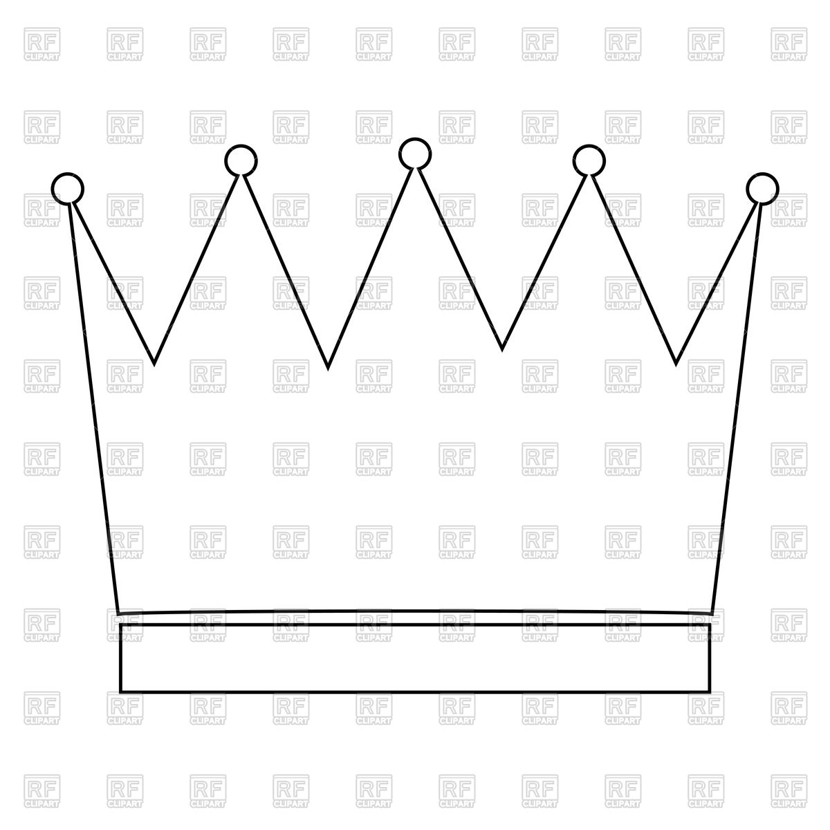 Crown outline icon Stock Vector Image.