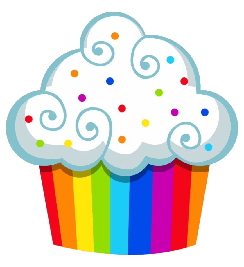 Cupcake Rainbow Cake Clipart Cupcakes Clip Art Within Png.