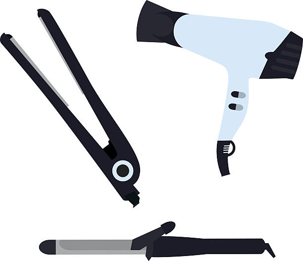 Best Curling Iron Illustrations, Royalty.