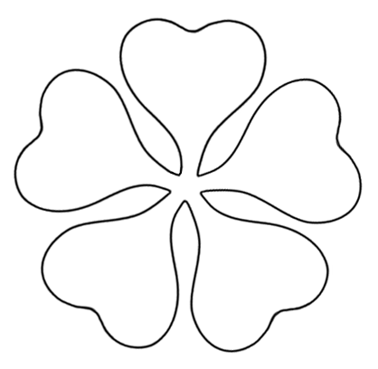 printable flower template cut out.