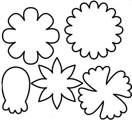 Flower Template To Cut Out.