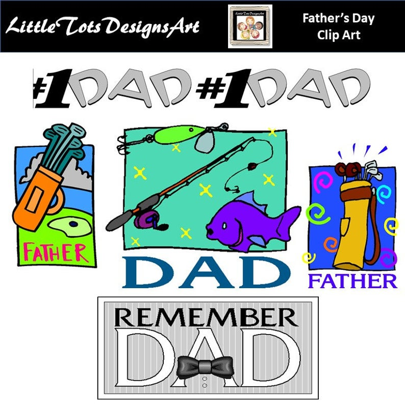 Father's Day Digital Clip Art, Fathers Day Clipart, Dad, Gift, Quote,  Wishes, Message, Card, Commercial Use, Instant Download.