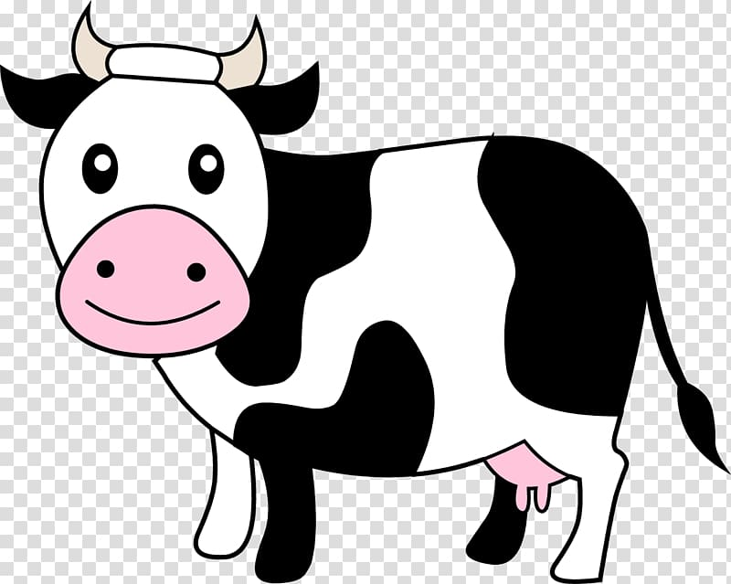 Holstein Friesian cattle Dairy cattle , cow transparent background.