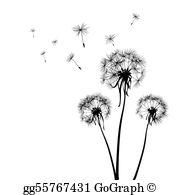 Dandelions Clip Art.