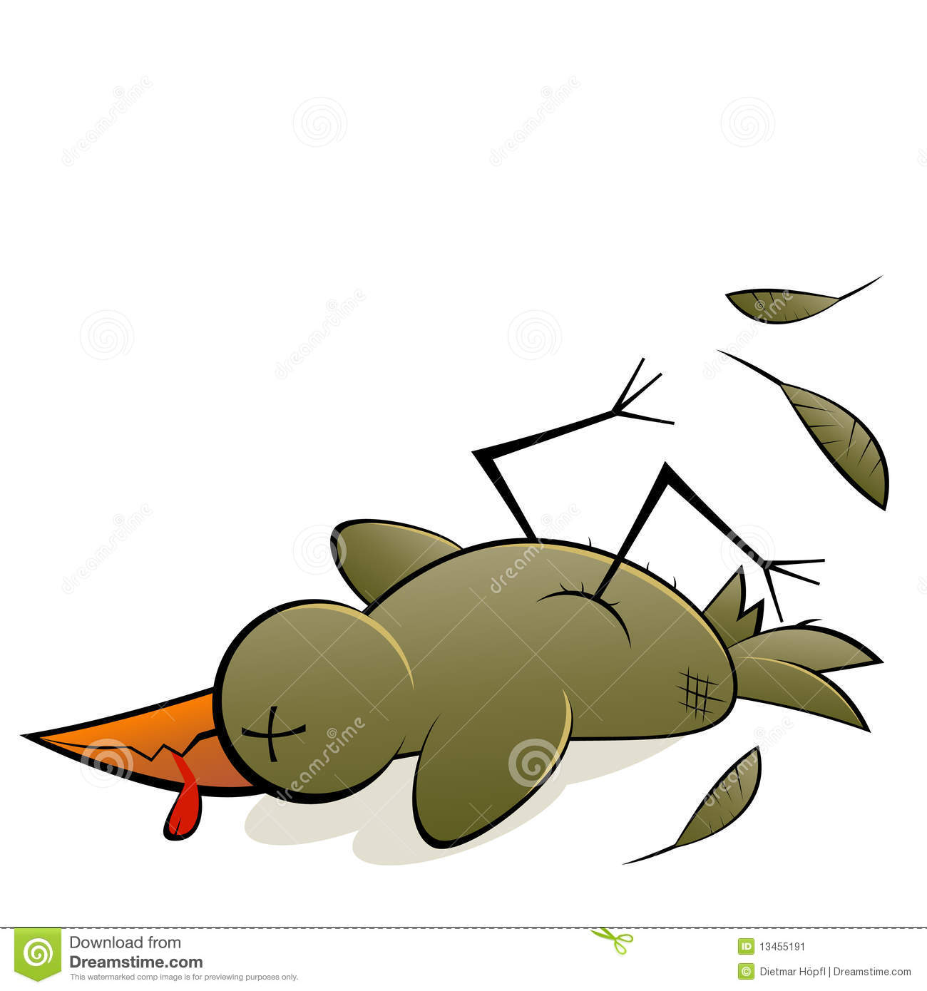 Dead Bird stock vector. Illustration of clip, clipart.