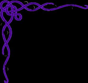 Purple Decorative Border Clipart.