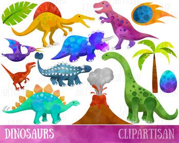 Dinosaur Clipart, Dinosaurs Clip Art by ClipArtisan.