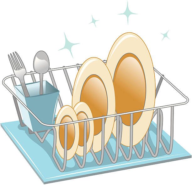 Best Dish Rack Illustrations, Royalty.