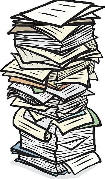 Document Clipart Stack Papers.