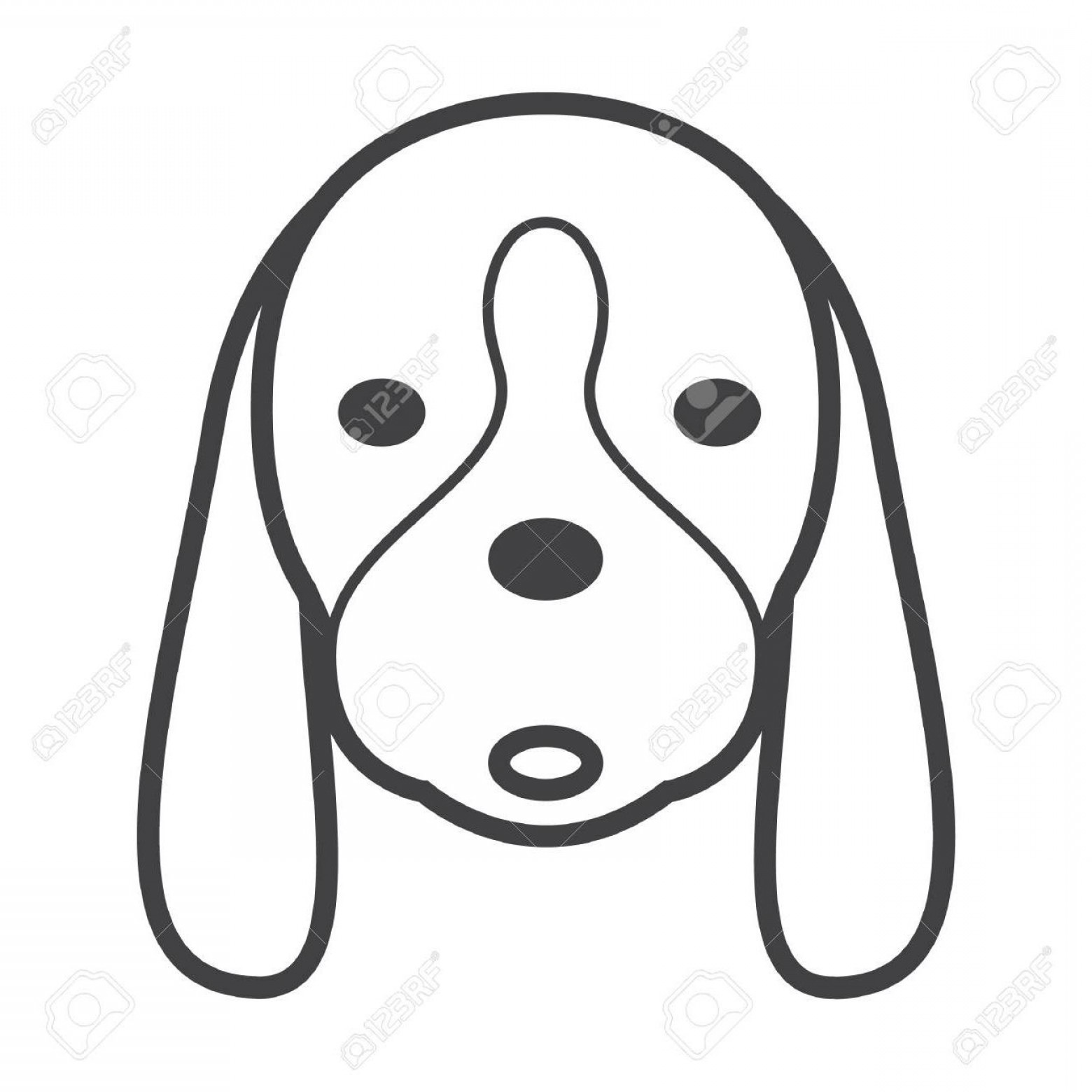 Unique Dog Head Line Art Vector Design.