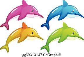 Dolphins Clip Art.