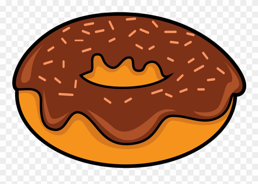 Chocolate Donut Clipart.