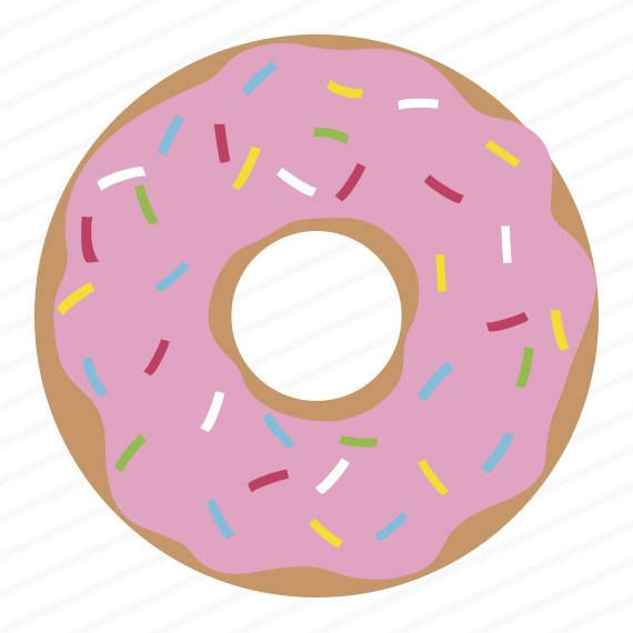 Donut svg, donut dxf, donut eps, donut stencil, donut clip art.
