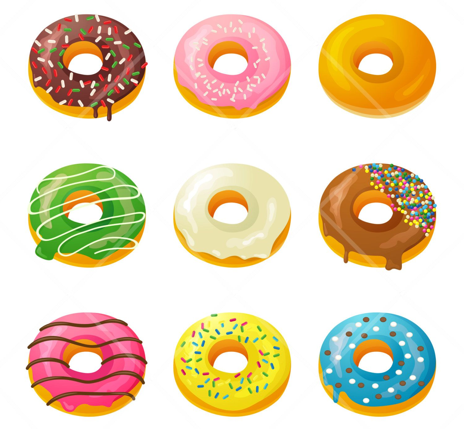 Box Of Donuts Clipart Donuts cakes clipart.