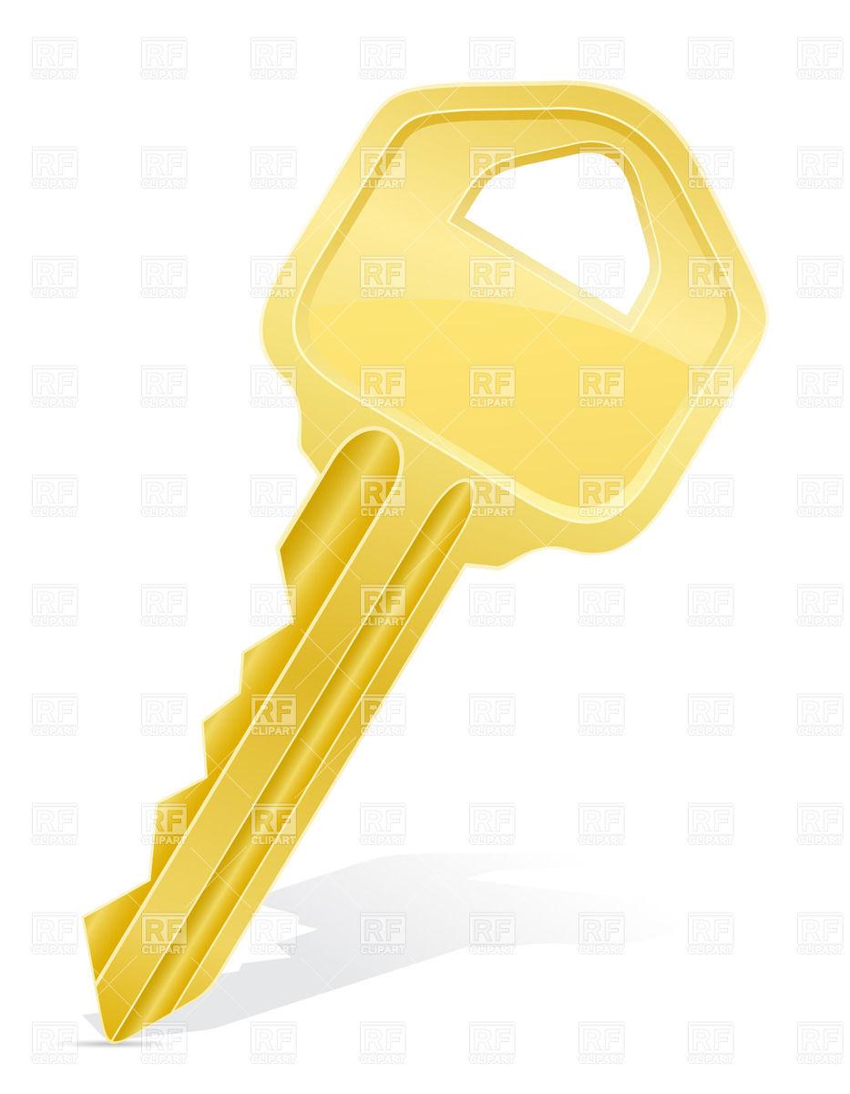 Typycal metal door key Stock Vector Image.