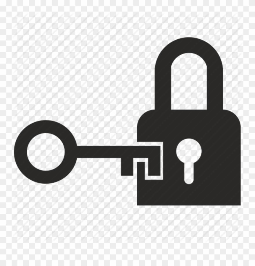 Download Key Opening Door Icon Clipart Padlock Key.