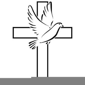 Cross Dove Cliparts.