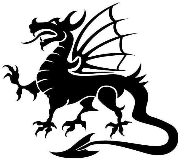 Dragon Vector Image.