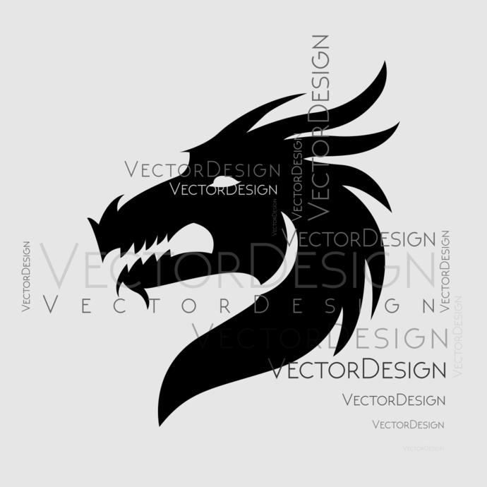 Dragon head Graphics SVG Dxf EPS Png Cdr Ai Pdf Vector Art Clipart instant  download Digital Cut Print File Cricut Silhouette Decal.